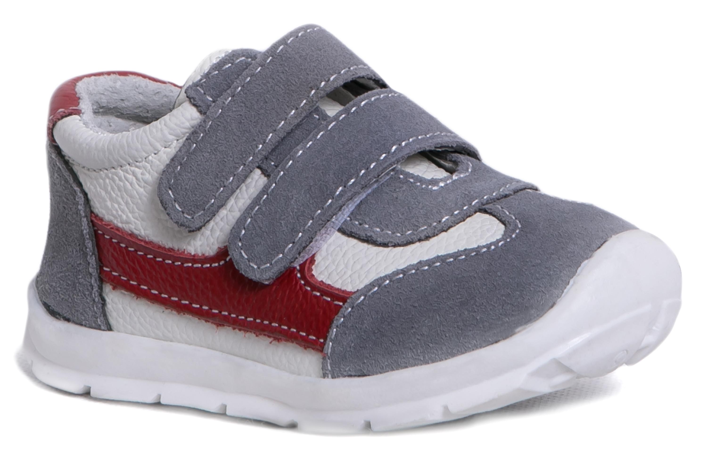 Полуботинки Barkito для девочки серый с красным ботинки и полуботинки barkito krs18116 1