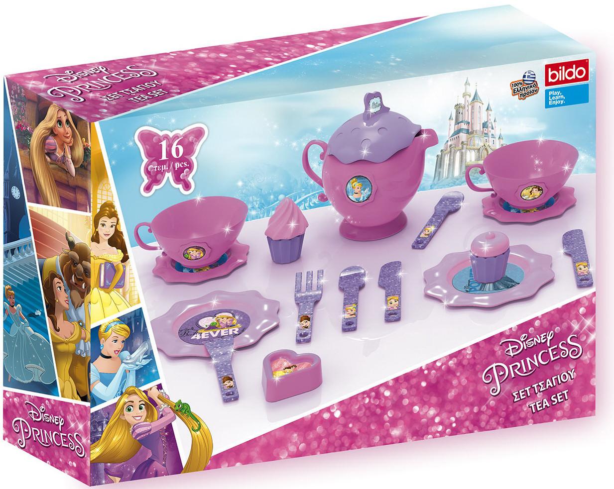 Посуда и наборы продуктов Bildo Игровой набор посуды для чая «Принцесса» игрушечная посуда faro большой набор посуды