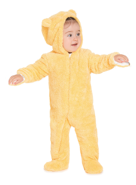 """Купить со скидкой Комбинезон плюшевый детский Barkito """"Спящая овечка"""", желтый"""