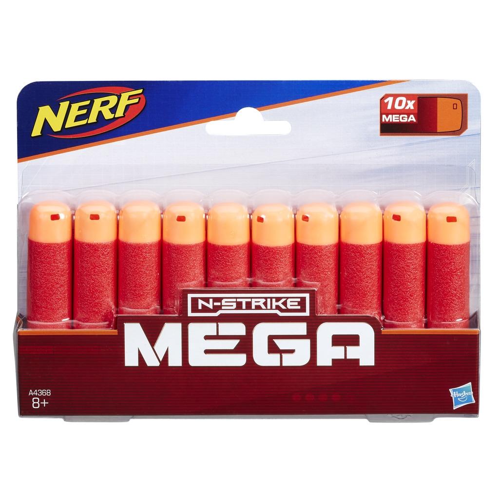 Комплект стрел Hasbro Мега 10 шт hasbro комплект 10 стрел для бластеров мега nerf
