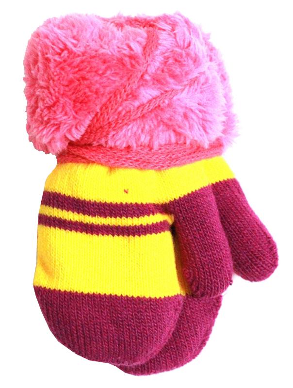 Варежки и перчатки Принчипесса Варежки для девочки Принчипесса, розово-желтые варежки перчатки и шарфы coccodrillo шарф для девочки love cats