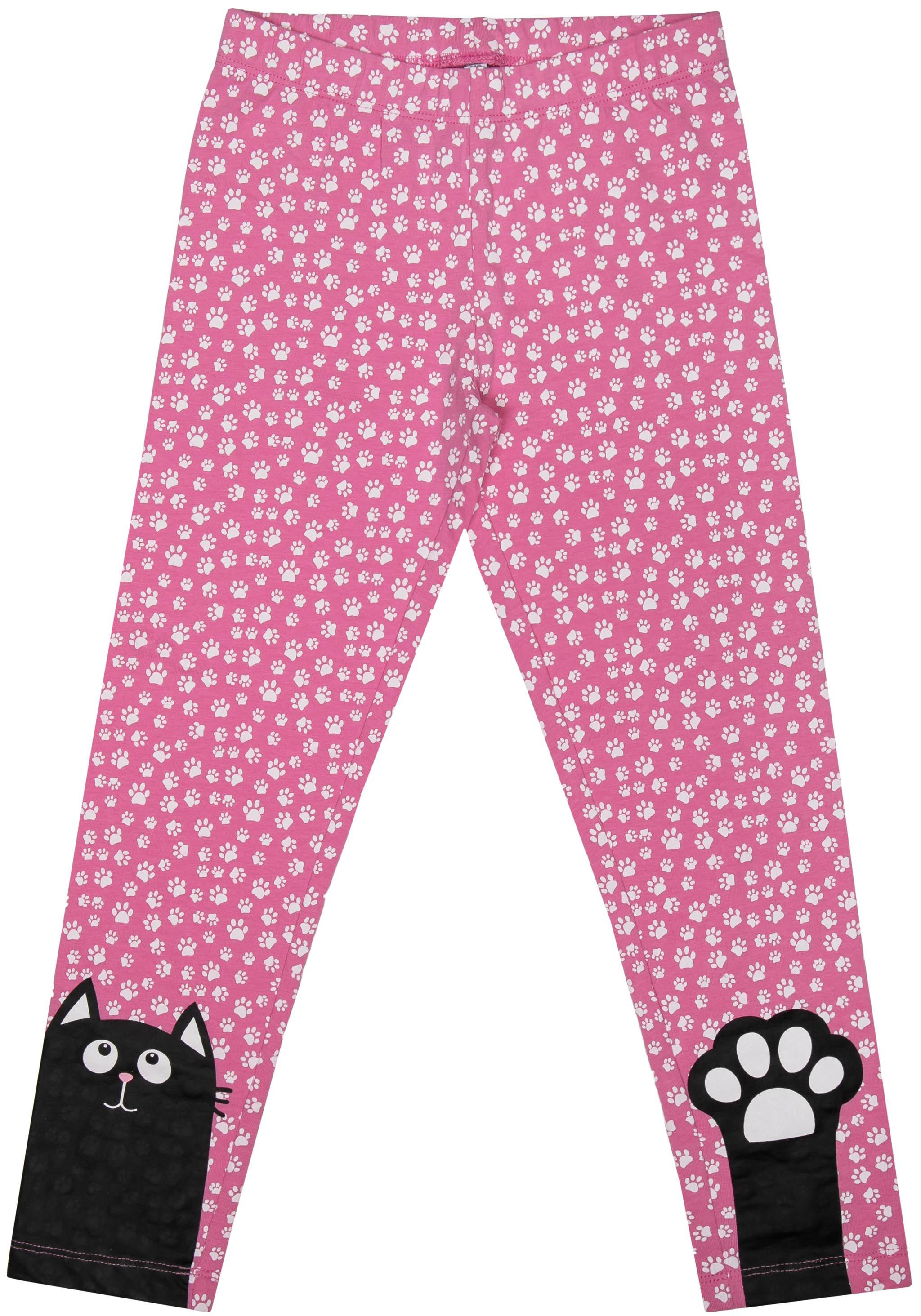 Легинсы Barkito Мартовские коты S18G3028J(1) футболка с длинным рукавом для девочки barkito мартовские коты белая