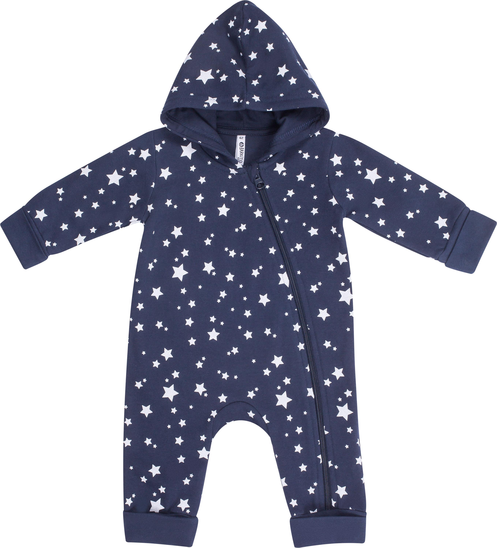 Комбинезон детский Barkito Пингвиненок Лоло, синий с белыми звездами