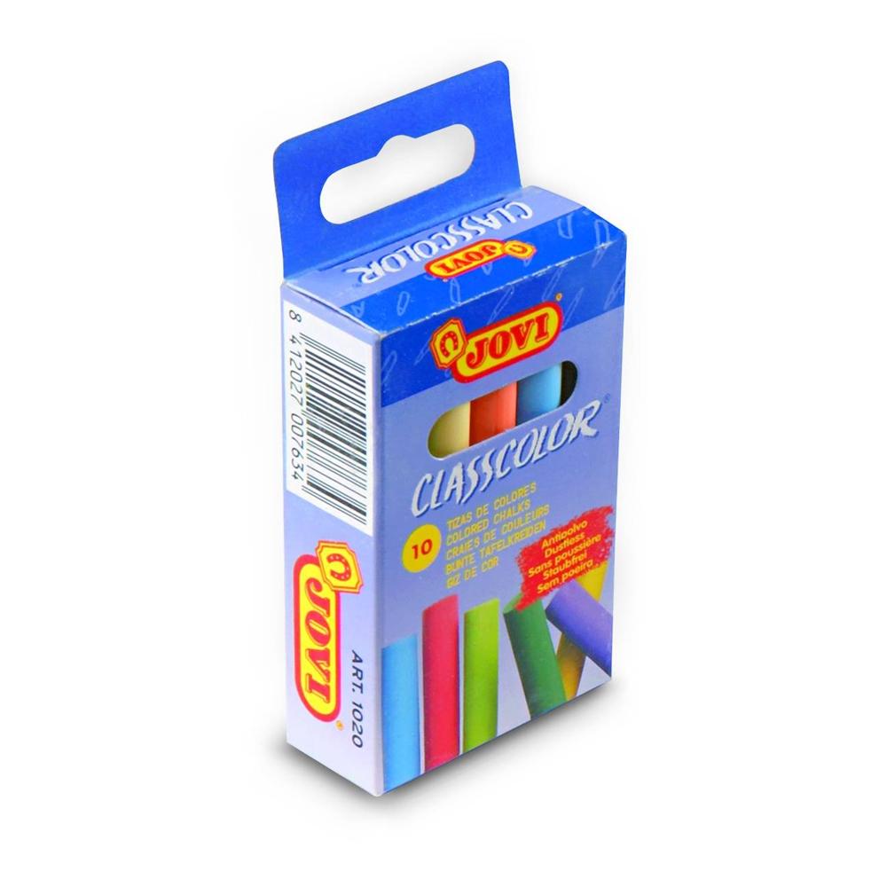 Мелки Jovi Classcolor цветные в коробке 10 шт. восковые мелки jovi треугольные 12 цв в коробке 973 12