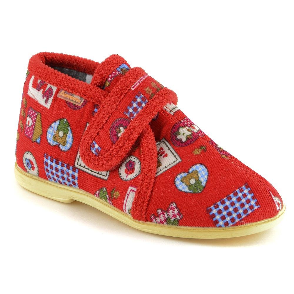 Тапочки Домашки Домашние малодетские красные тапочки домашки туфли домашние малодетские