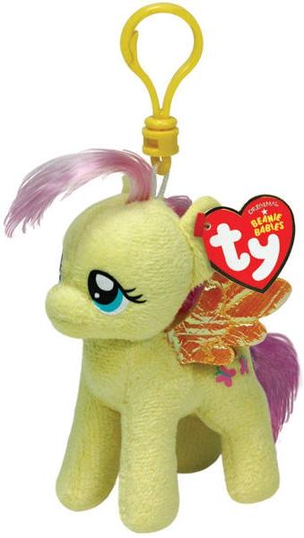 My Little Pony TY Пони Fluttershy на брелке ty мягкая игрушка пудель maggie 11 см