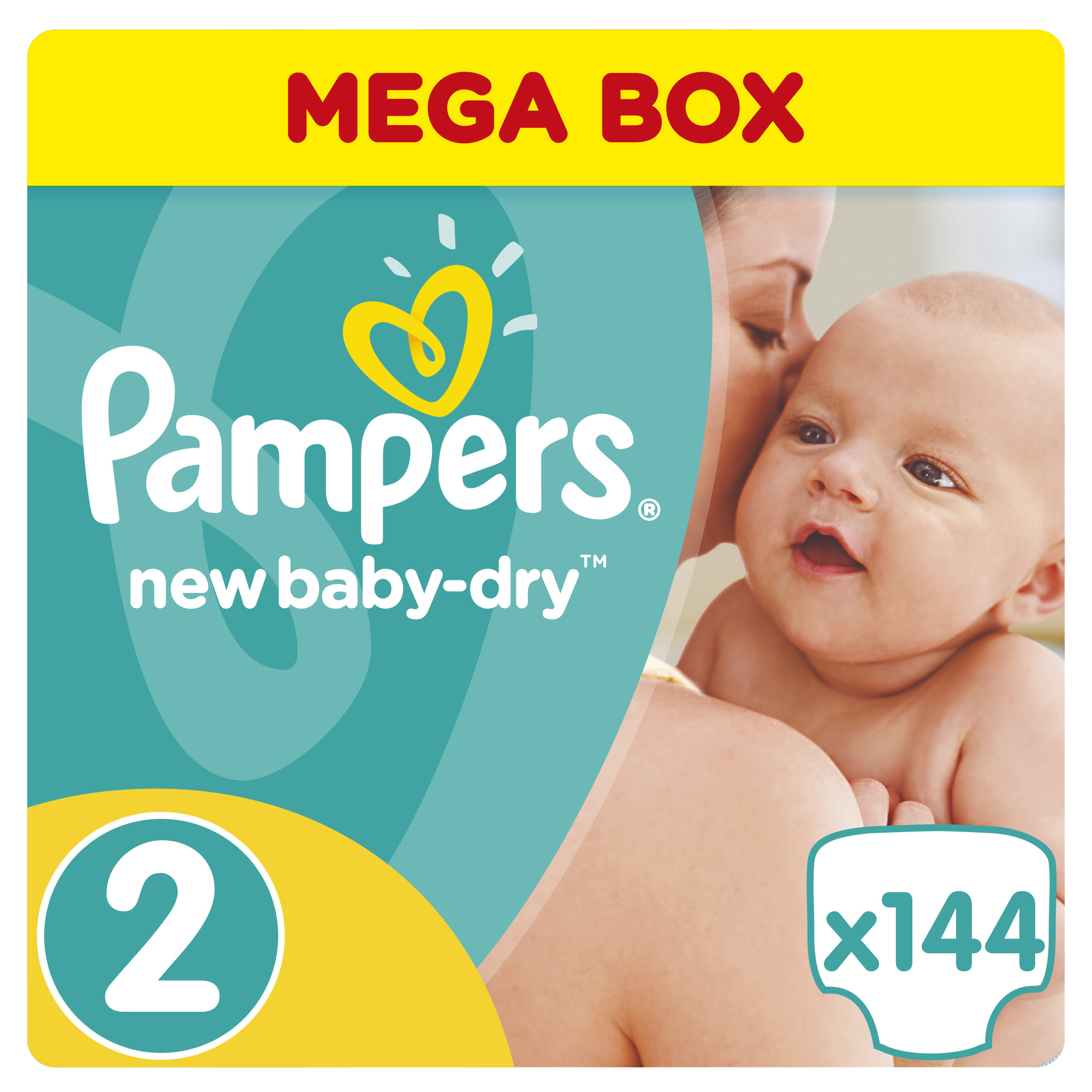 New Baby-Dry 2 (3-6 кг) 144 шт. PA-81530082