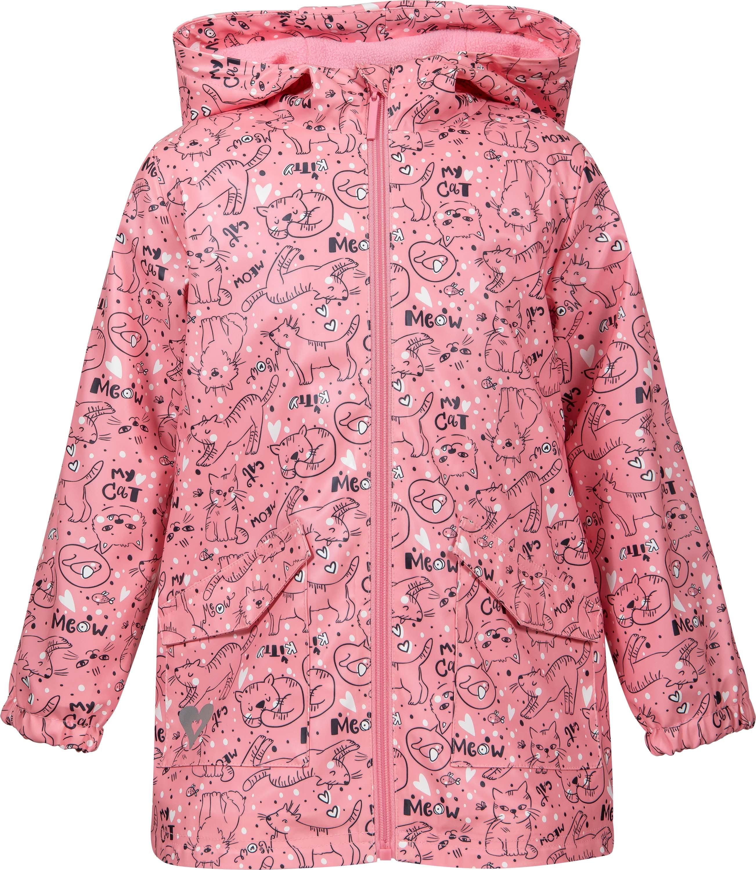 Купить Куртки, Куртка для девочки Barkito, розовая с рисунком котики , Китай, розовый с рисунком котики , Женский