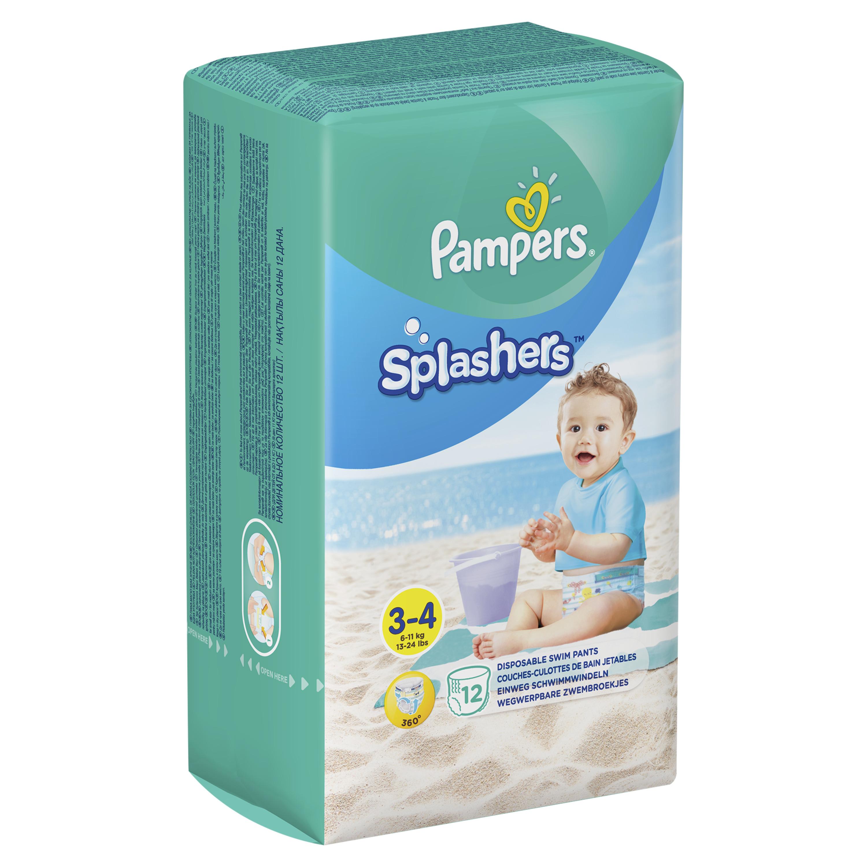 Трусики-подгузники Pampers «Splashers» для плавания Midi-Maxi (6-11 кг) 12 шт