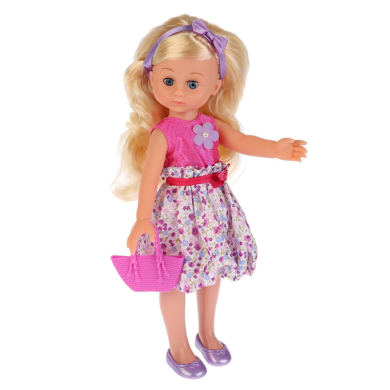 Другие куклы Карапуз Полина в розовом платье озвученная 33 см куклы карапуз кукла полина 35 см озвученная закрывает глазки
