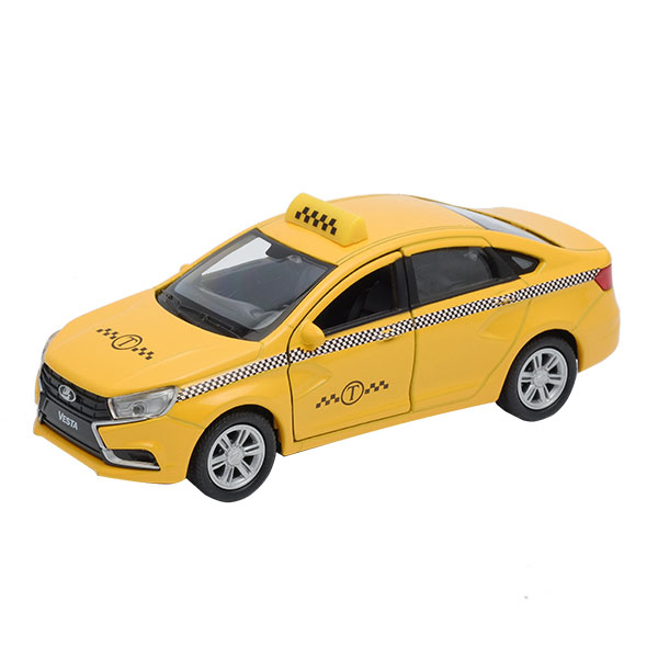 Машинки и мотоциклы Welly Машинка Welly «Lada Vesta такси» автомобиль welly lada kalina такси 1 34 39 42383