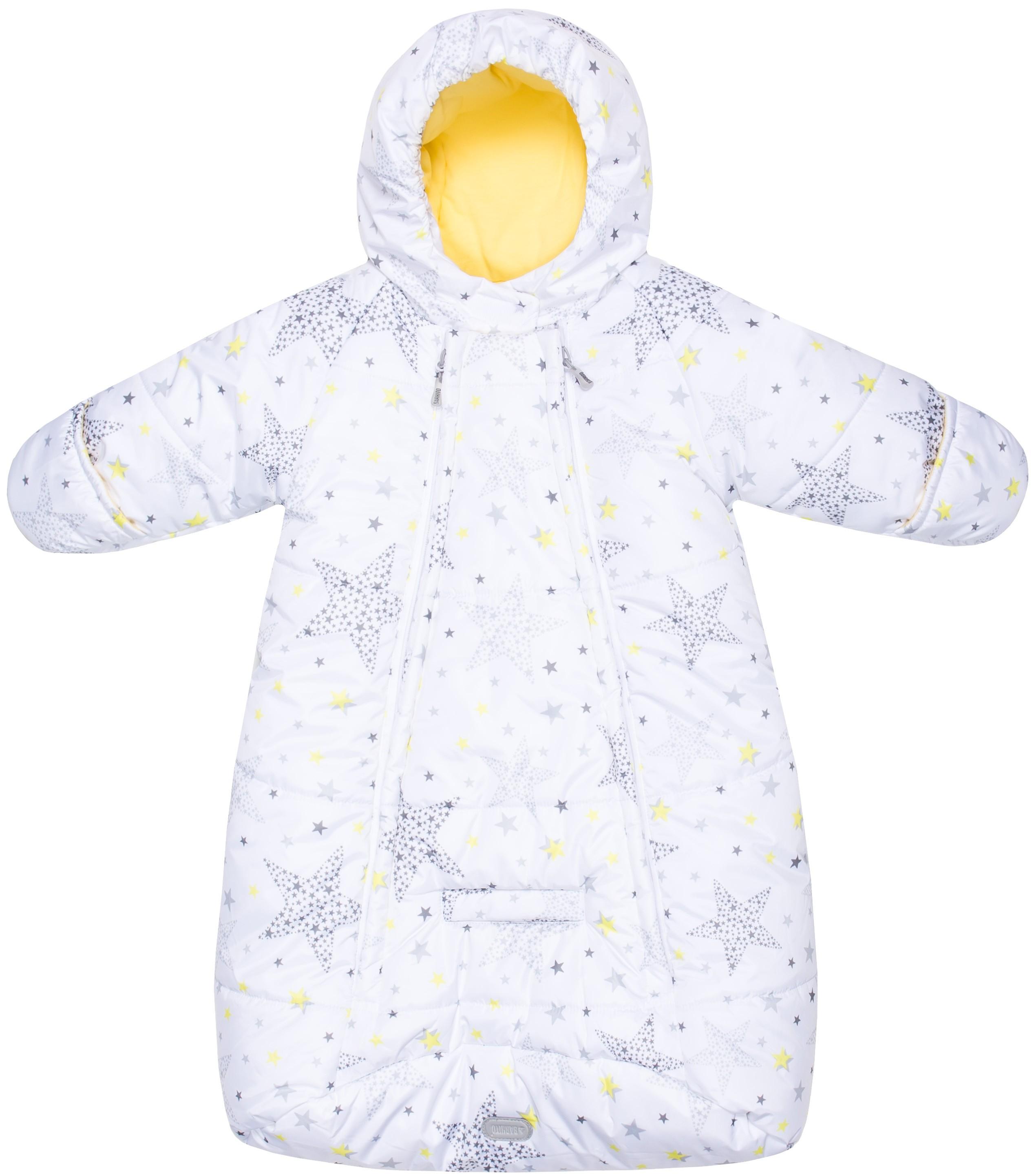 Конверты и спальные мешки Barkito Конверт детский Barkito, белый с рисунком «звёзды» конверт детский womar womar конверт в коляску зимний multi arctic цветки черно белые