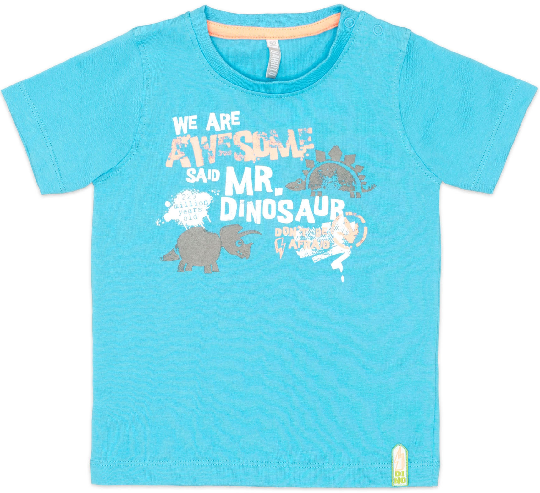 """где купить Футболки Barkito Футболка с коротким рукавом для мальчика Barkito """"Динозаврики"""", голубая по лучшей цене"""