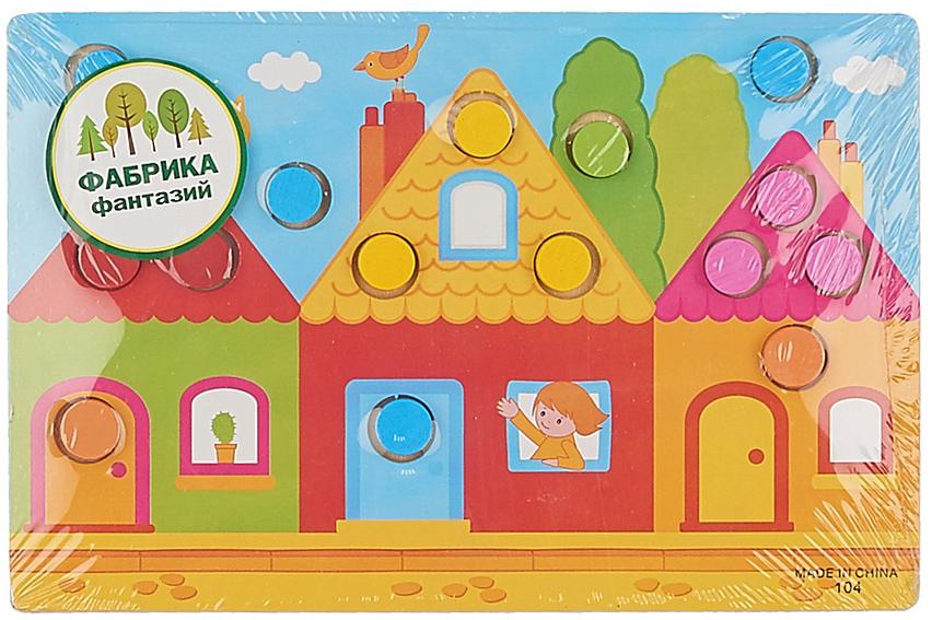 Деревянная игрушка Фабрика Фантазий Учим цвета рамка вкладыш фабрика фантазий деревянная