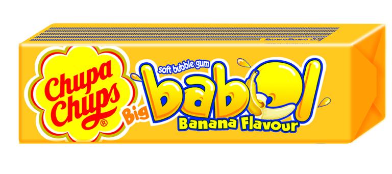Жевательная резинка Chupa Chups Chupa Chups «Big Babol. Банан» 21 г chupa chups карамель экзотик тропик ассорти 100 шт по 12 г