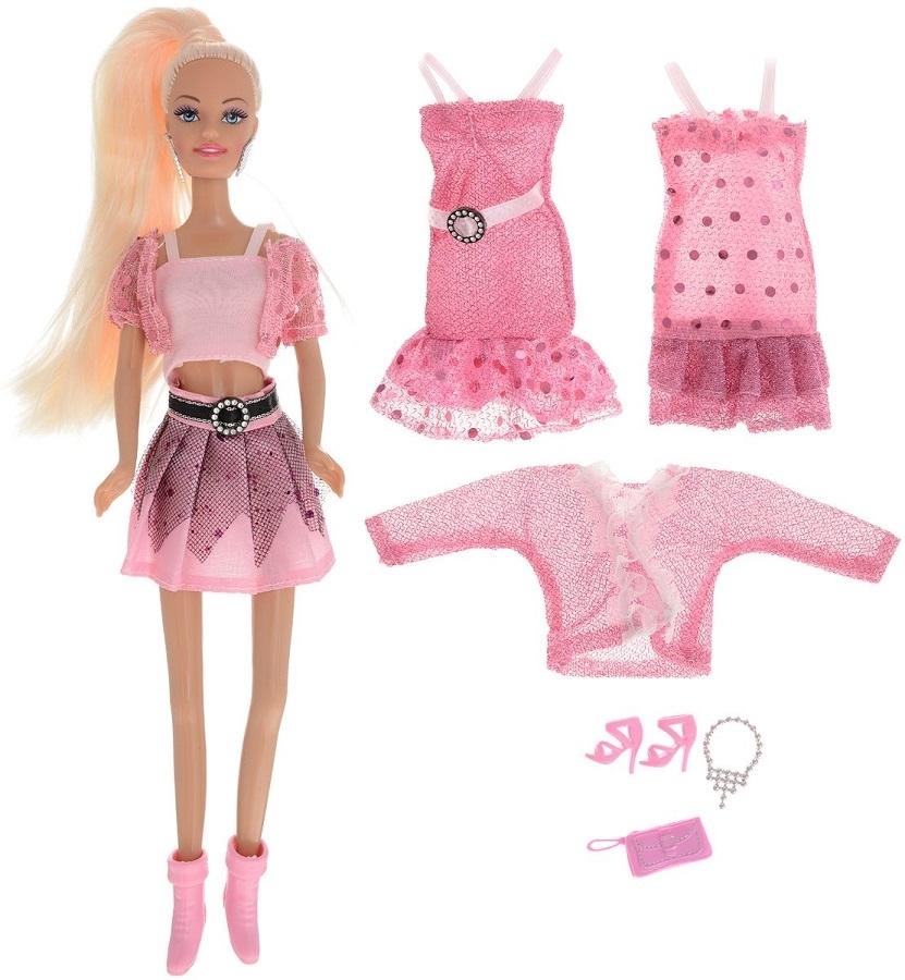 Кукла ToysLab Ася Розовый стиль Блондинка в розовом, 28 см, 35080 набор кукла ася джинсовая коллекция 28 см дизайн 1 toyslab ася