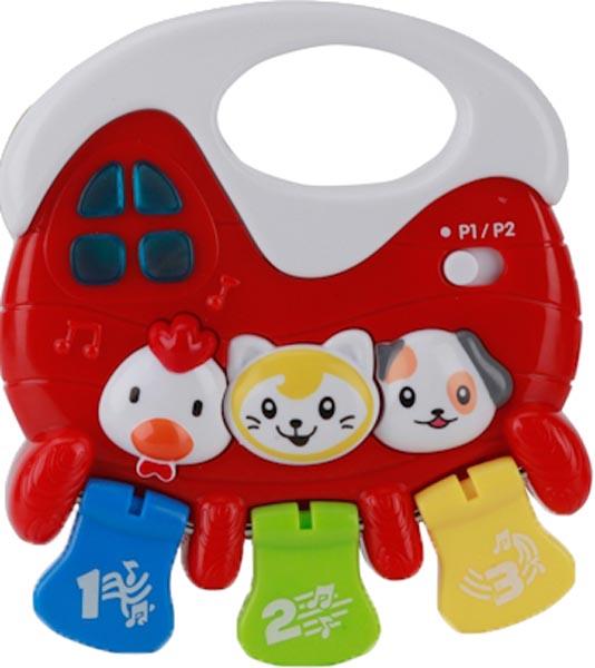 Купить Развивающие игрушки, Озвученная погремушка стихи А.Барто, Умка, Китай, красный + белый