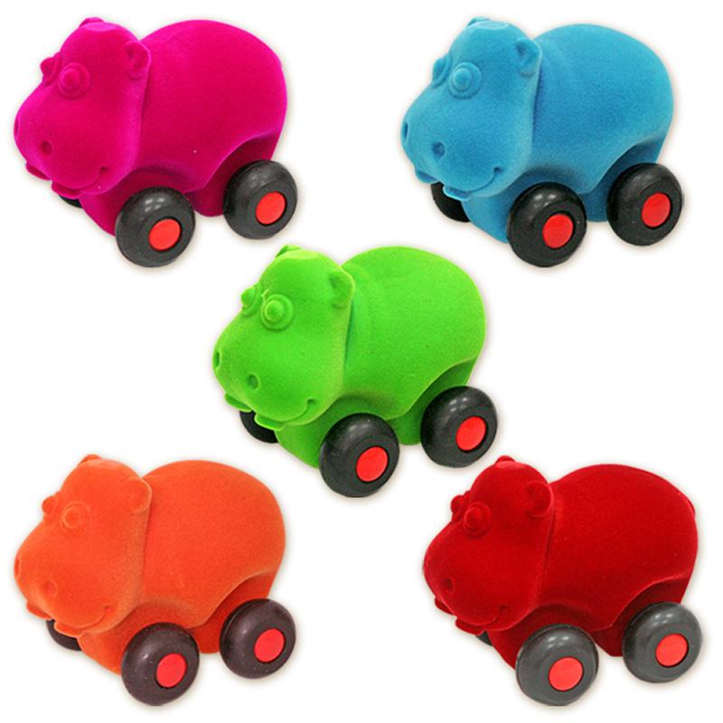 Развивающие игрушки Rubbabu Бегемот машины rubbabu скутер из натурального каучука с флоковым покрытием 21 см