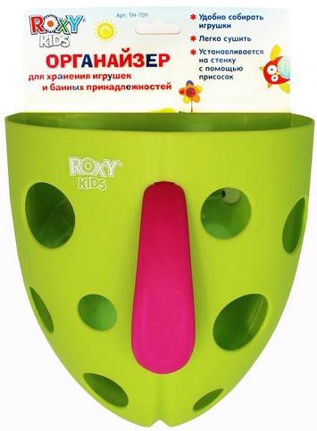 Другие товары Roxy-kids Органайзер для игрушек и банных принадлежностей на присоске писсуар roxy kids для мальчиков настенный на присоске в ванную комнату синий