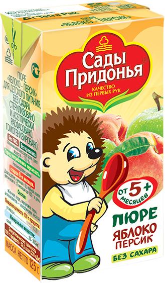 купить Пюре Сады Придонья Сады Придонья Яблоко, персик (c 5 месяцев) Tetra Pak 125 г по цене 18.5 рублей
