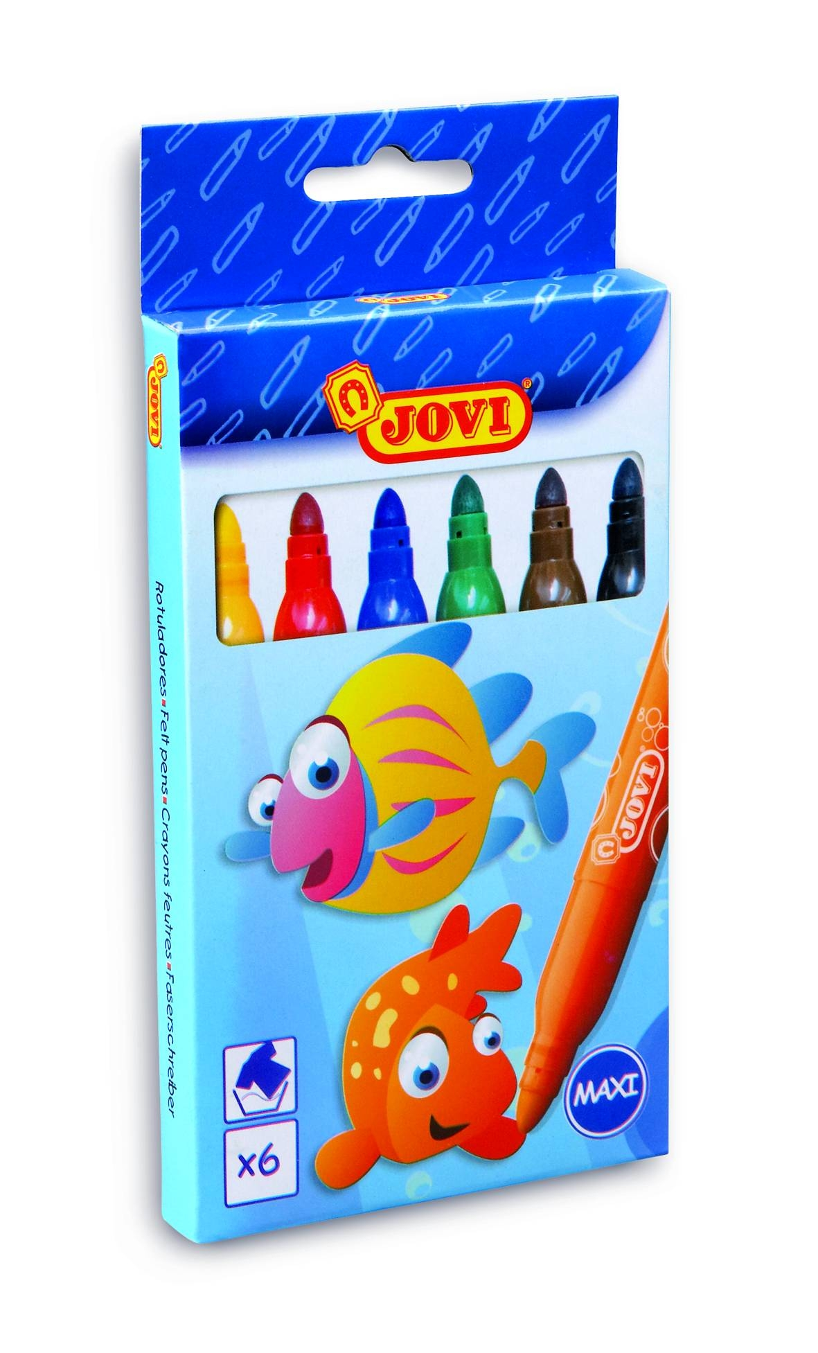 Набор фломастеров Jovi 6 цветов Maxi