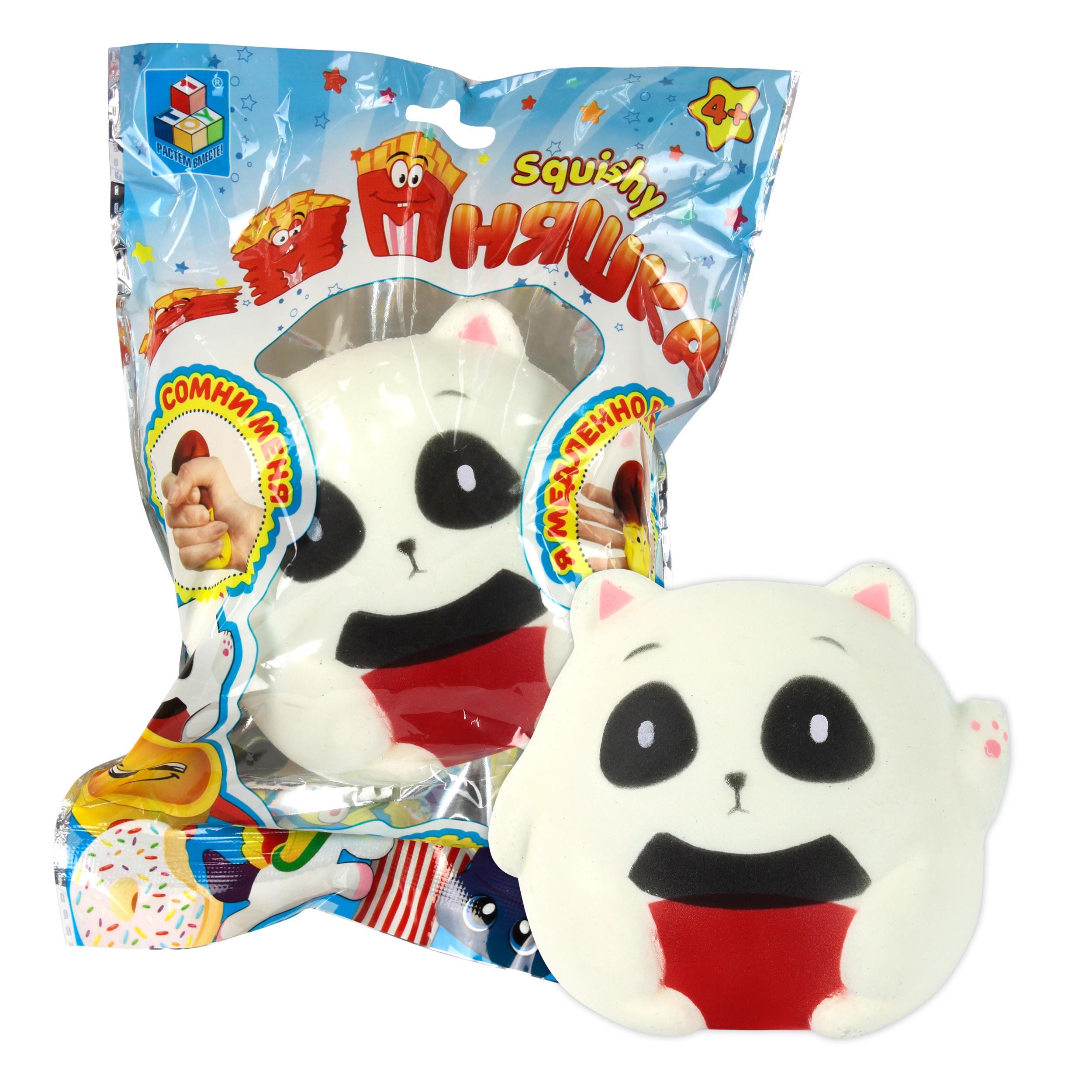 Игрушки-антистресс 1toy Игрушка-антистресс 1Toy «Мммняшка squishy: Панда сидящая» игрушка антистресс good mood единорог а3295