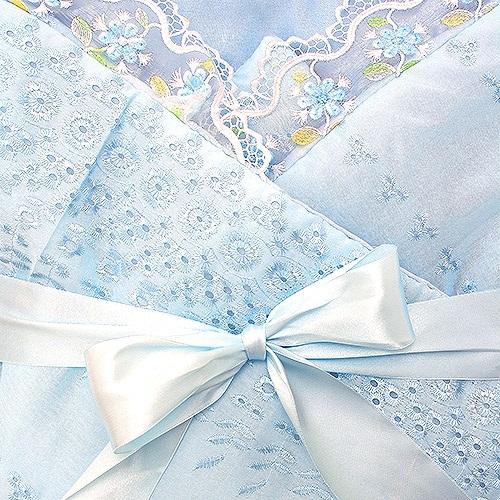 комплекты на выписку Комплекты на выписку Арго Одеяло нарядное на выписку для мальчика АРГО, голубое
