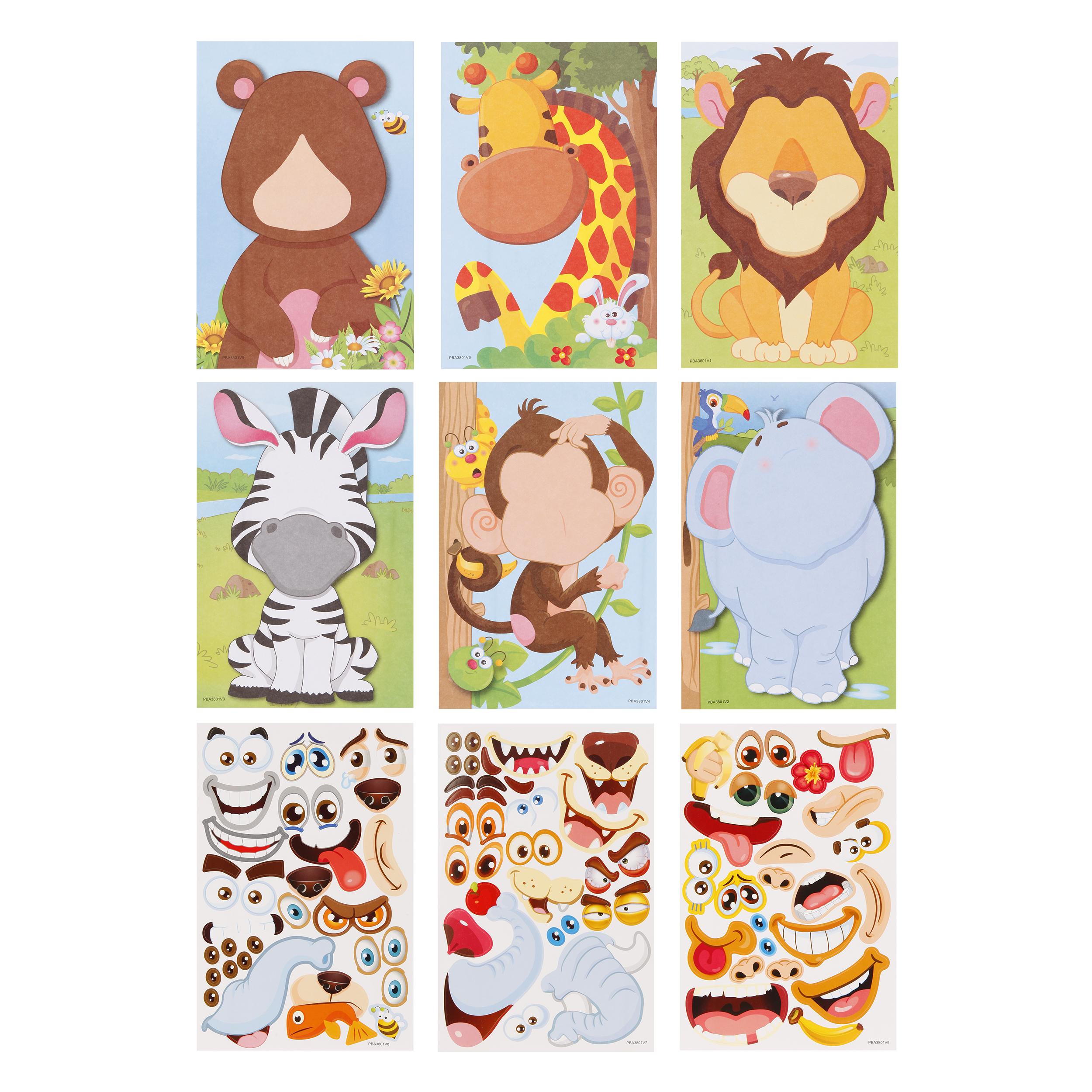 Набор наклеек Color Puppy Забавные мордашки: Животные 95432 забавные аппликации домашние животные