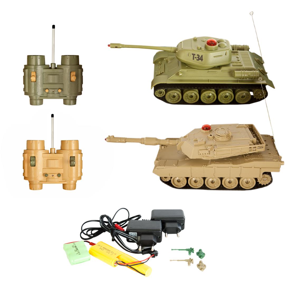 Игрушки на радиоуправлении Наша игрушка Т34 - Abrams M1A2