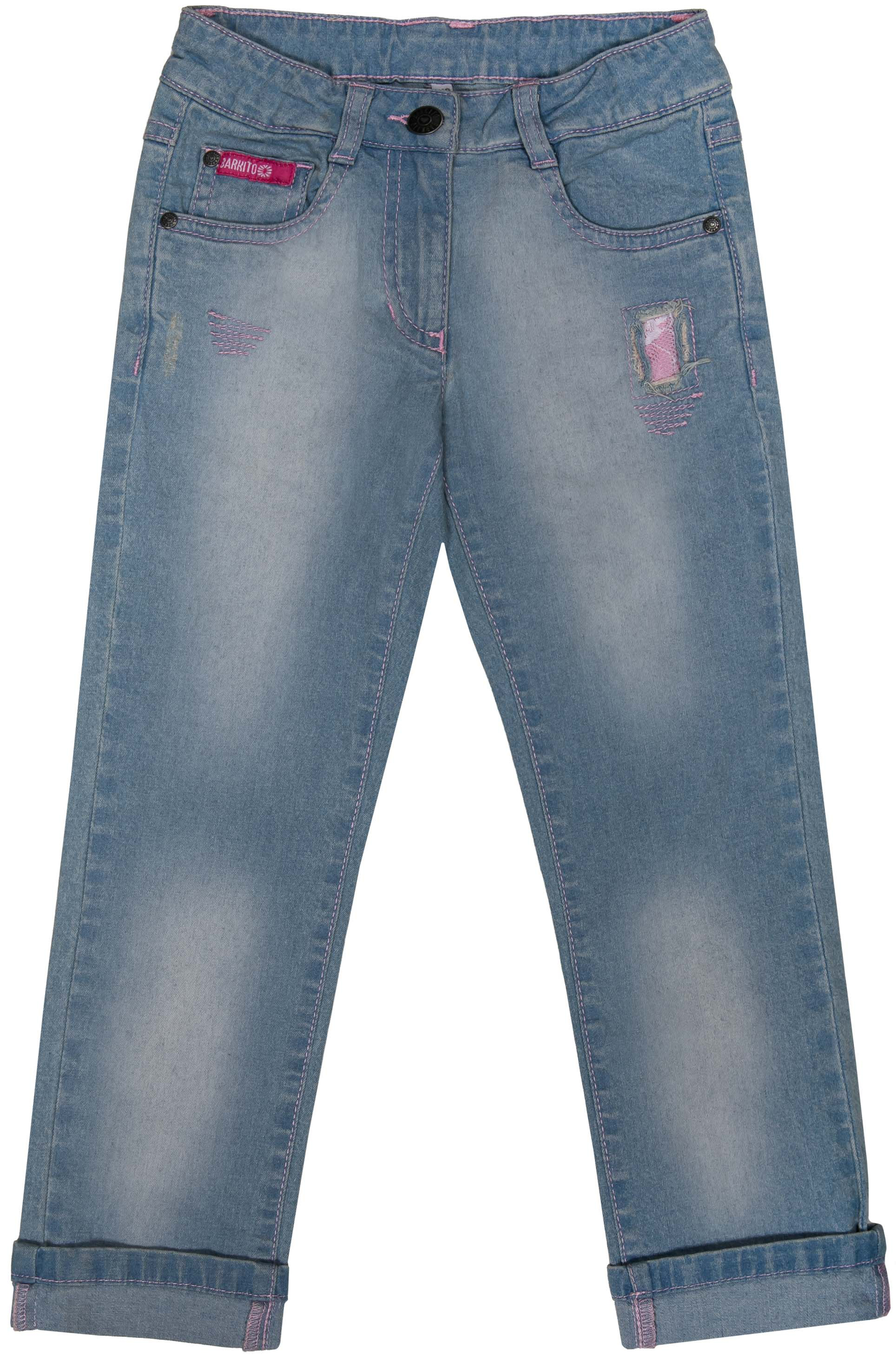 Джинсы Barkito Джинсы для девочки Деним S18G3001D брюки джинсы и штанишки s'cool брюки для девочки hip hop 174059
