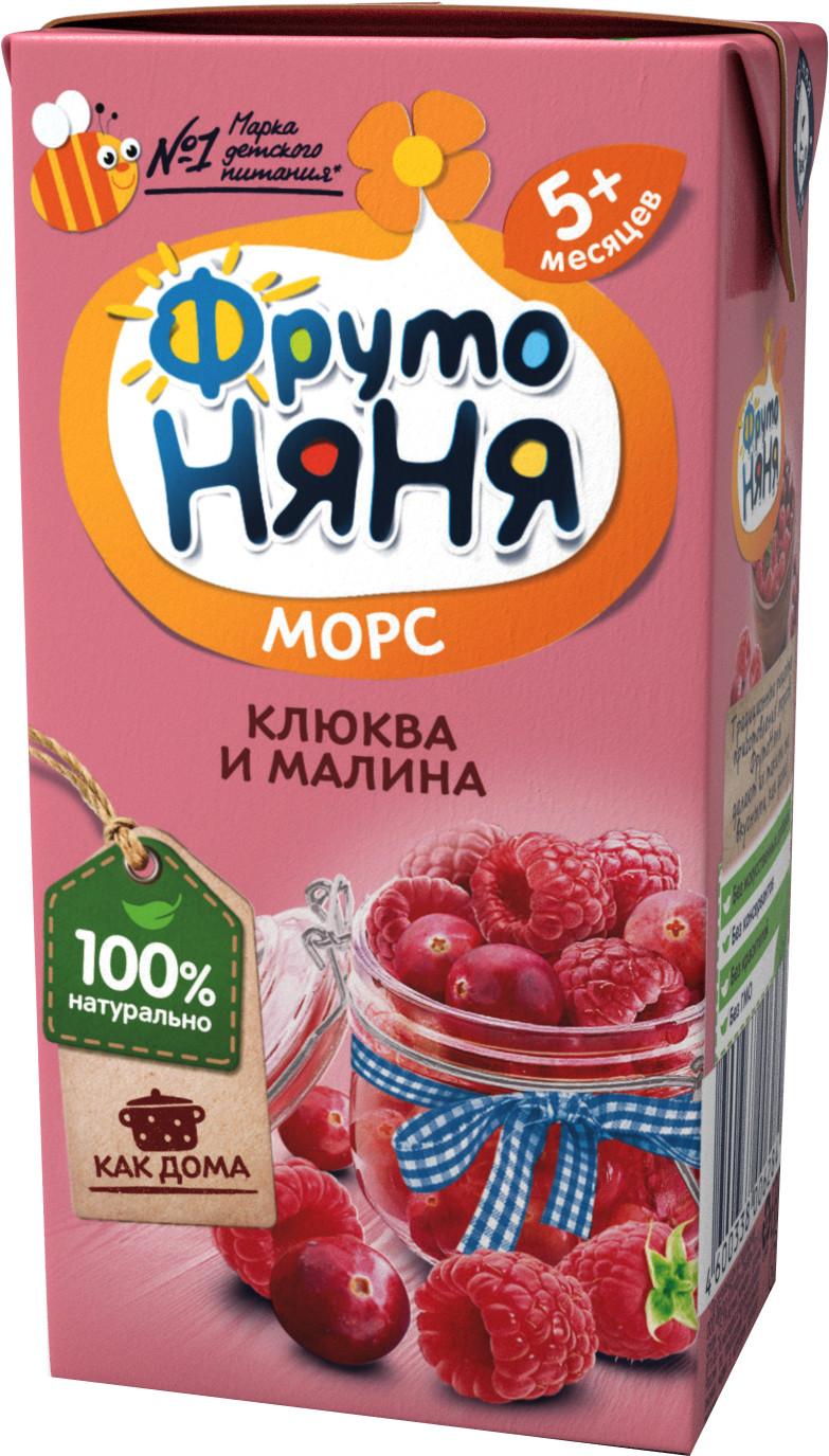 Купить Напитки, ФрутоНяня Клюква и малина с 5 мес. 200 мл, Фрутоняня, Россия