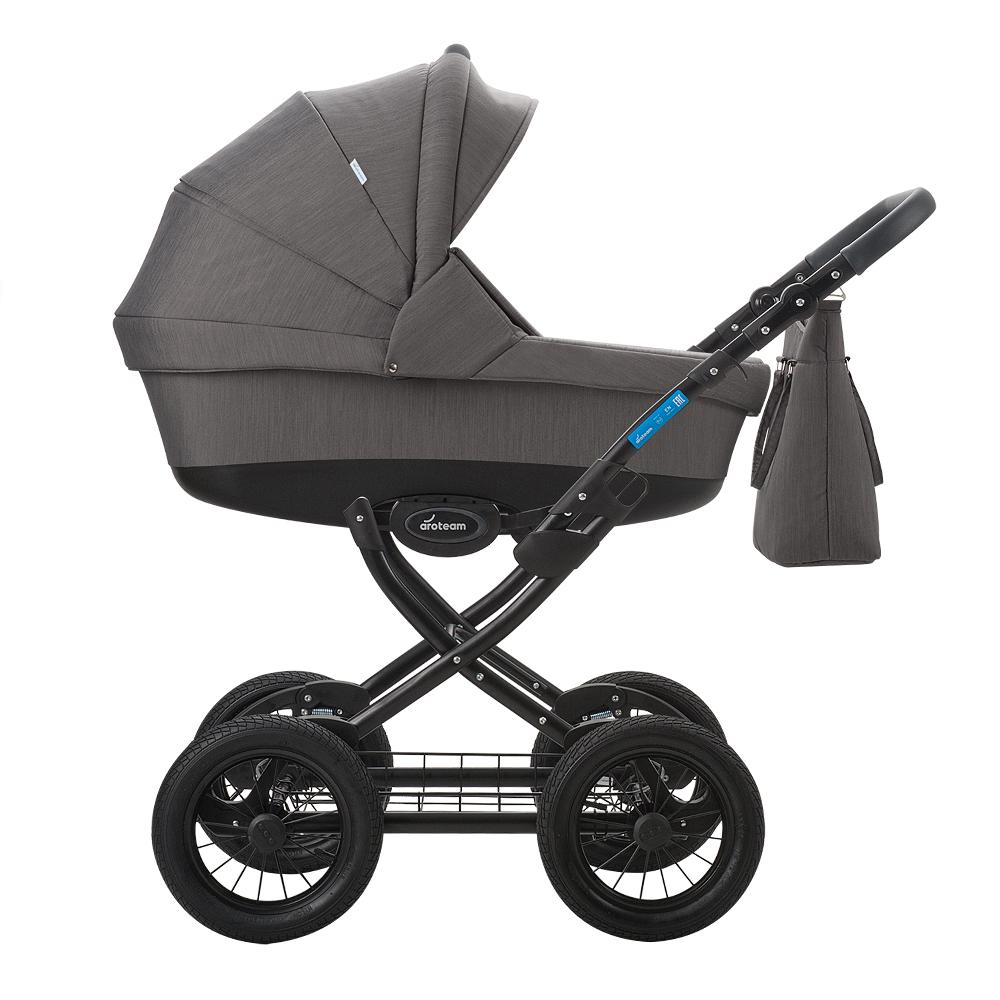 цена на Классическая коляска 2 в 1 Aroteam Cocoline 18 темно-серый