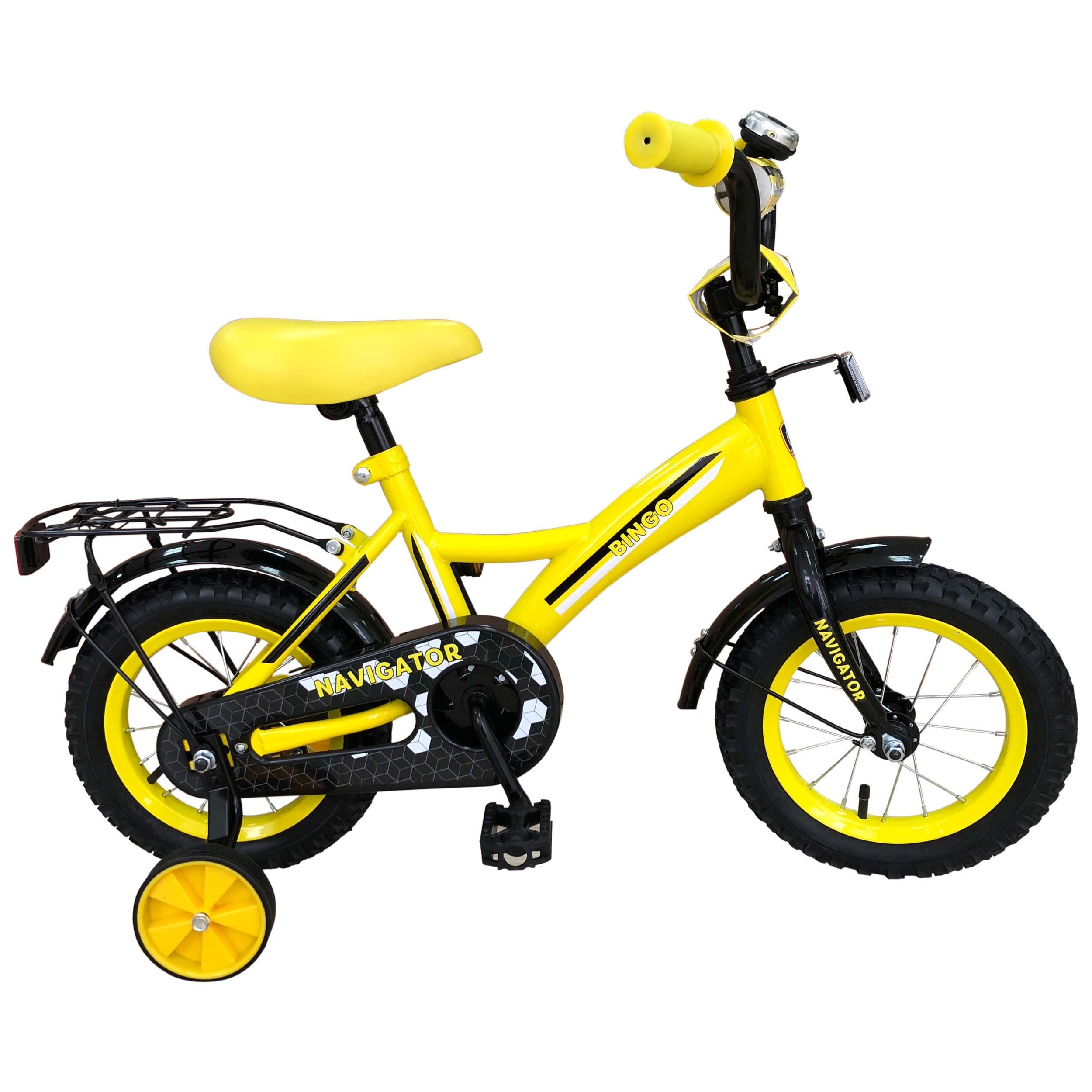 Купить Велосипеды двухколесные, ВН12108К3, Navigator, Китай, желто-черный, металл, полимер, текстиль, резина