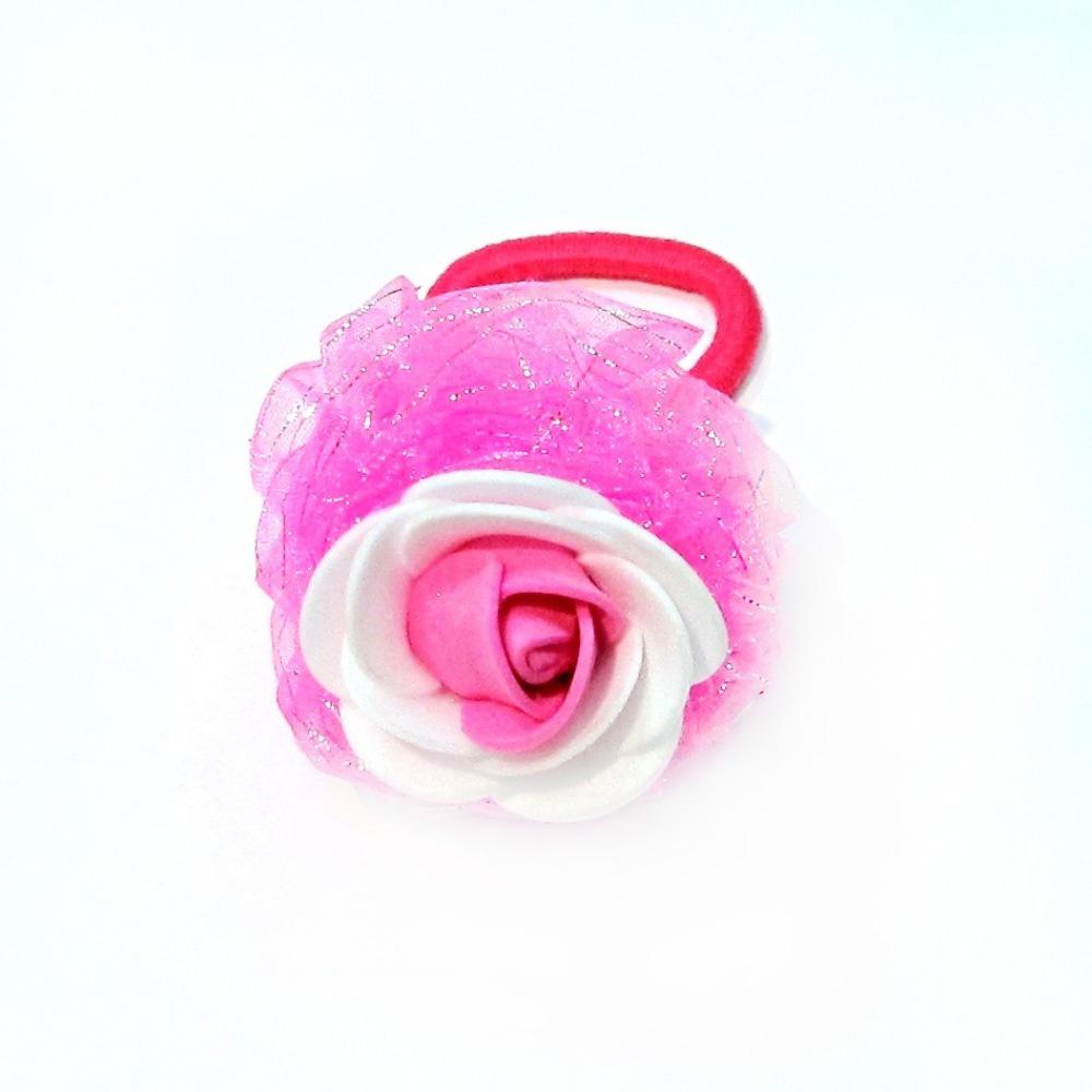 Резинка для волос Funny Bunny С украшением «розочка» в цветовом миксе невидимка для волос funny bunny розовые цветы 2 шт