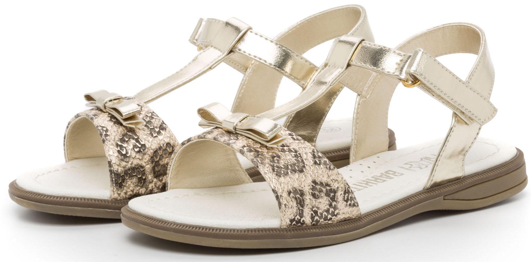 Босоножки Barkito Туфли летние ремешковые для девочки Barkito, перламутровые цена и фото