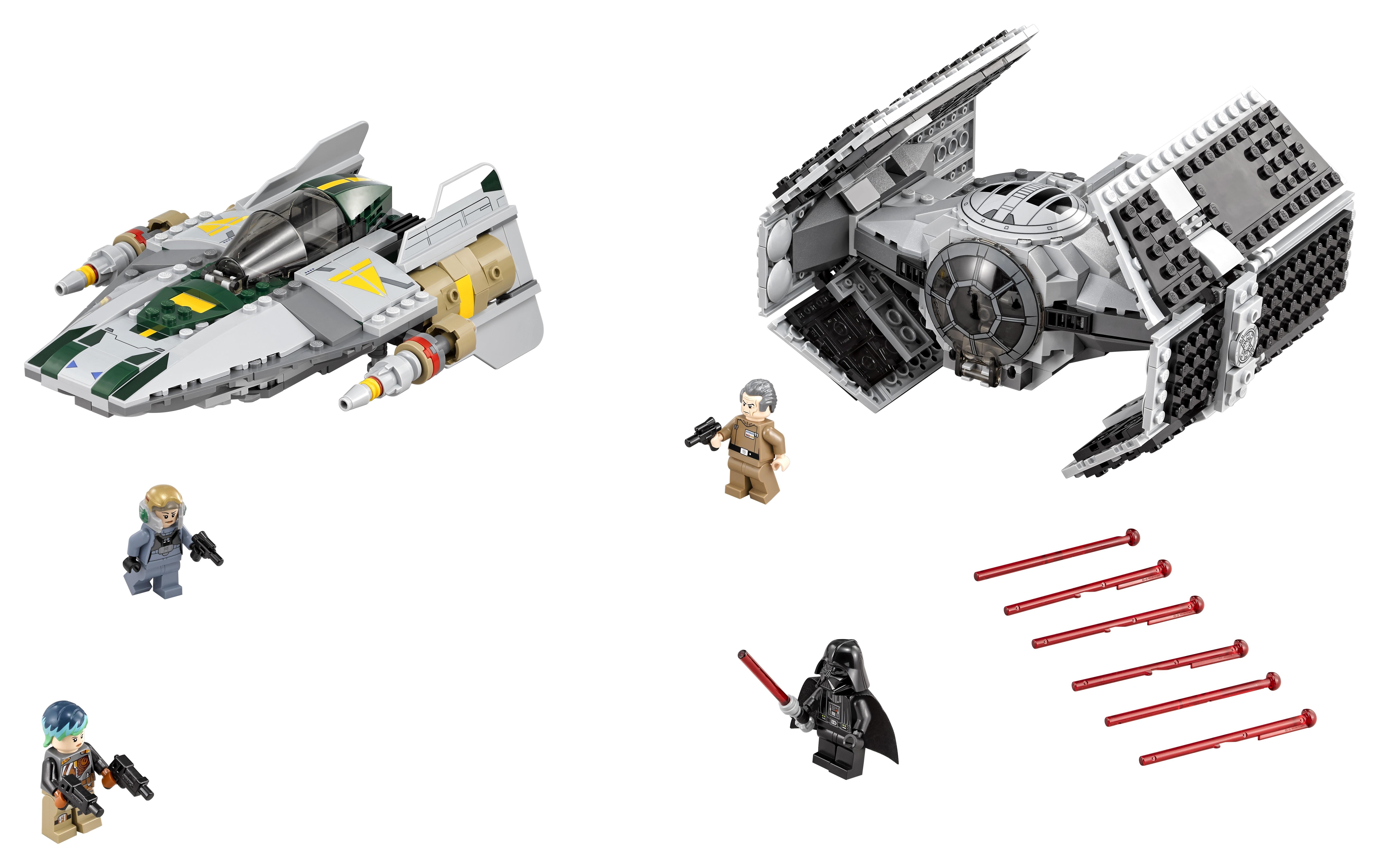 Star Wars LEGO 75150 Усовершенствованный истребитель TIE Дарта Вейдера против Звёздного истребителя A-Wing lego lego star wars 75150 усовершенствованный истребитель вейдера против звёздного истребителя