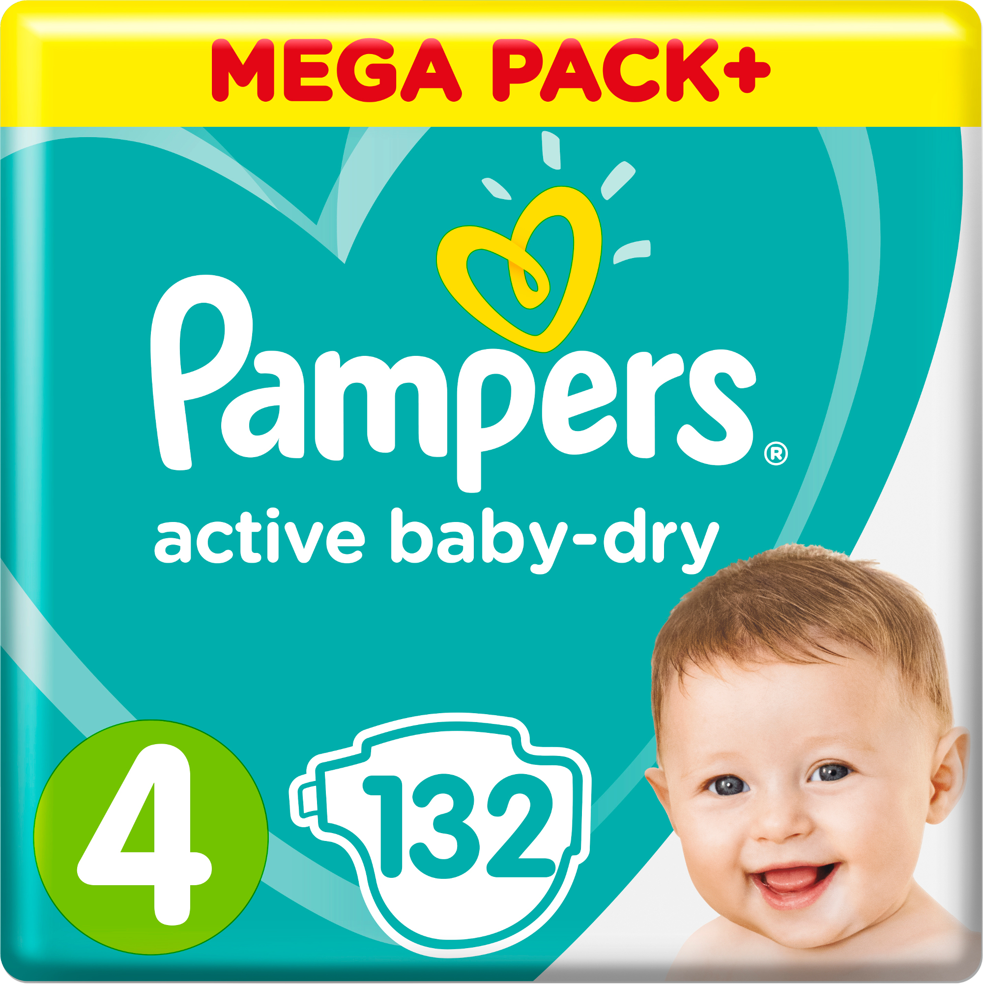 Подгузники Pampers Active Baby-Dry Maxi 4 (9-14 кг) 132 шт. цена 2017