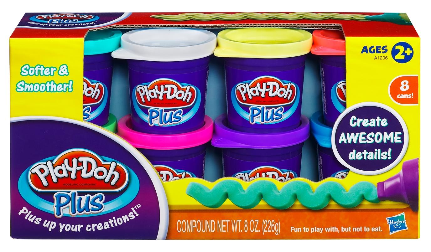 Купить Пластилин, «Plus» в банках 8 цветов, Play-Doh, Китай