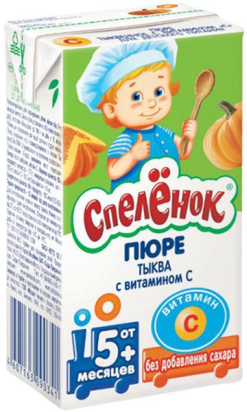 Пюре Сады Придонья Спелёнок Тыква с витамином С (с 5 месяцев) 125 г