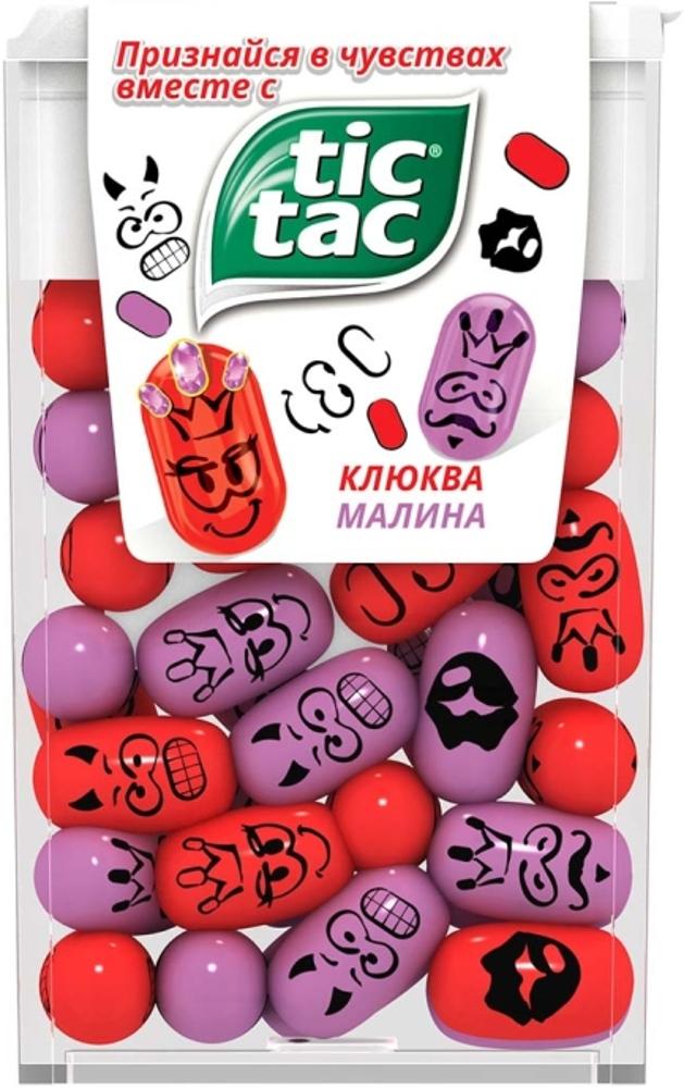 Десерты Tic Tac Tic Tac «Клюква и малина» 16 г конфитрейд disney драже с игрушкой проектор 8 г