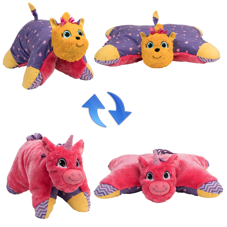 Мягкие игрушки 1toy Вывернушка-подушка. Единорог-Щенок Т12045 игрушка 1toy подушка furby в полоску т57472