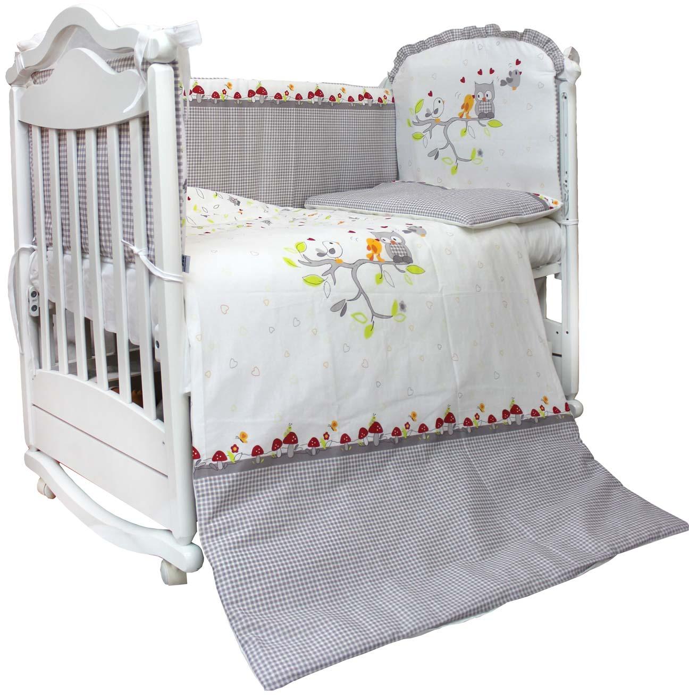 Комплект в кроватку L'Abeille Spring song карман на кроватку bombus светик розовый
