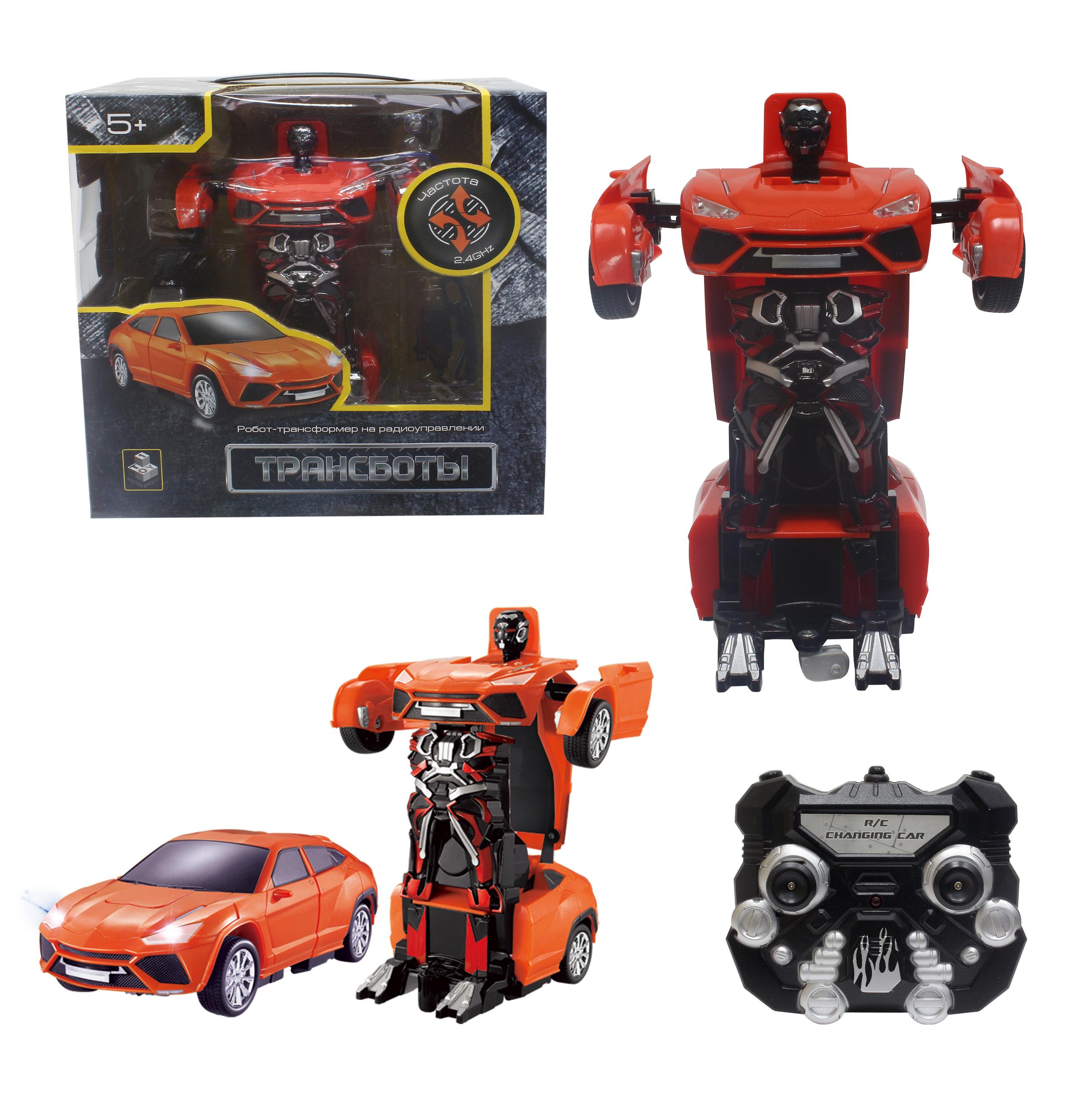 Роботы 1toy Робот-трансформер р/у 1Toy «Хэтчбек» 20 см красный роботы hap p kid робот трансформер