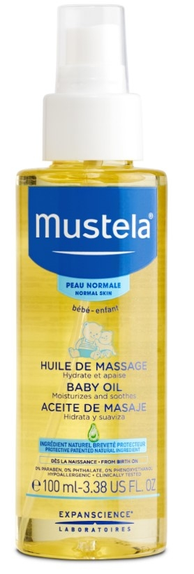 Купить Масло и молочко, Массажное масло с рождения 100 мл, Mustela, Франция