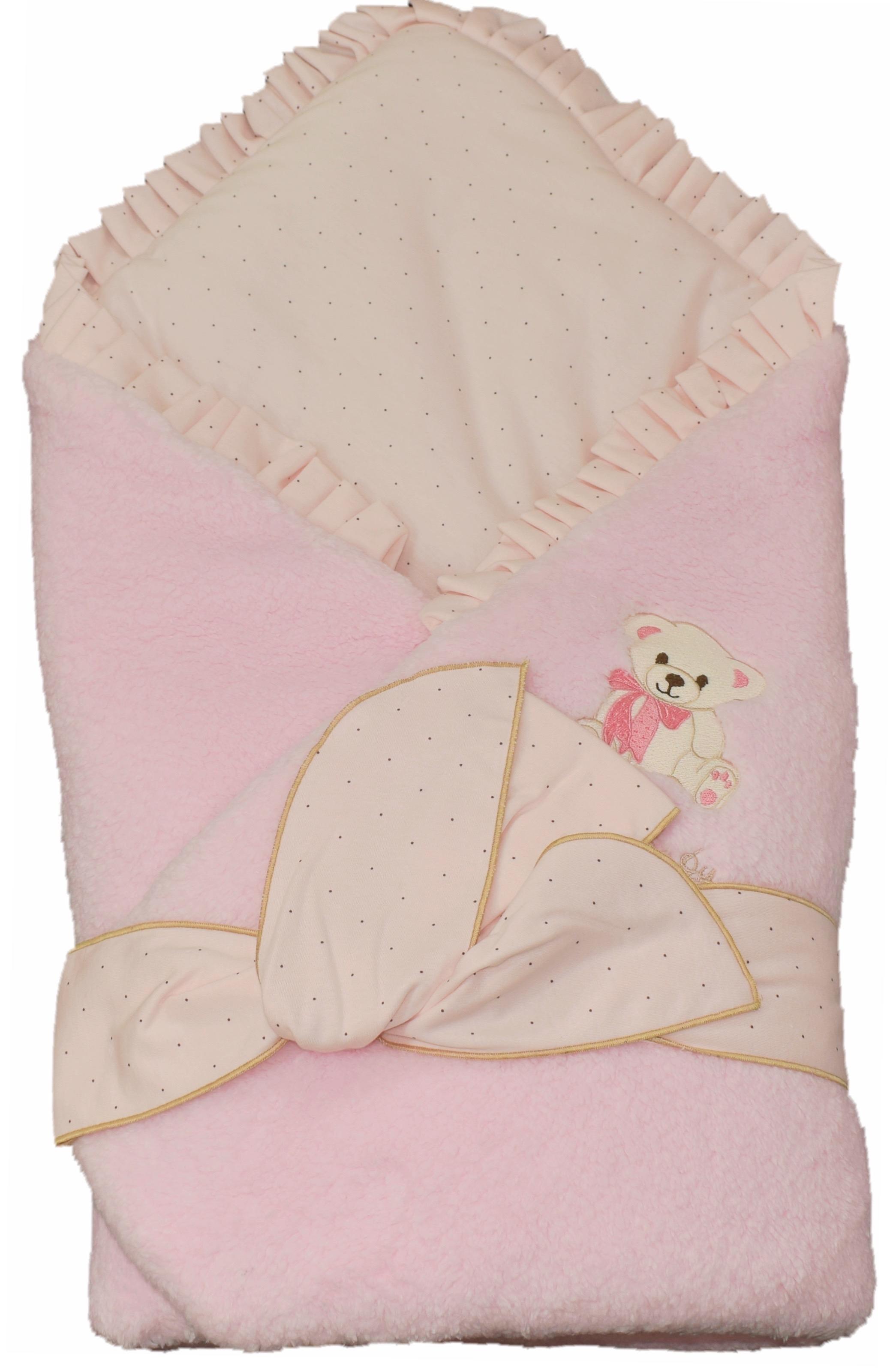 Одеяло на выписку Мой малыш На выписку розовое конверт на выписку супермамкет justcute совы зима флис бант
