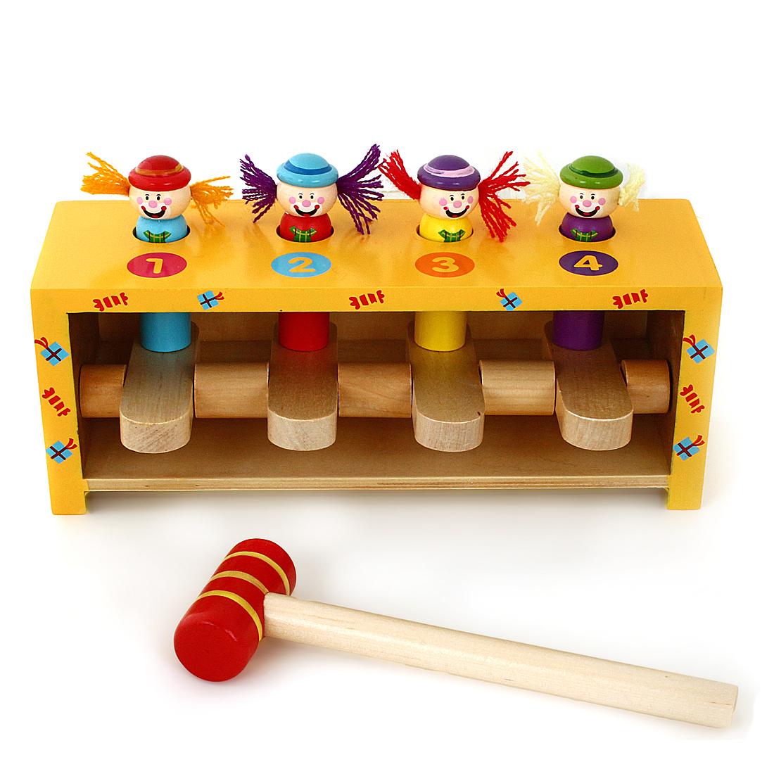 Деревянные игрушки Mapacha Прыгающие клоуны деревянные игрушки mapacha лабиринт маленький