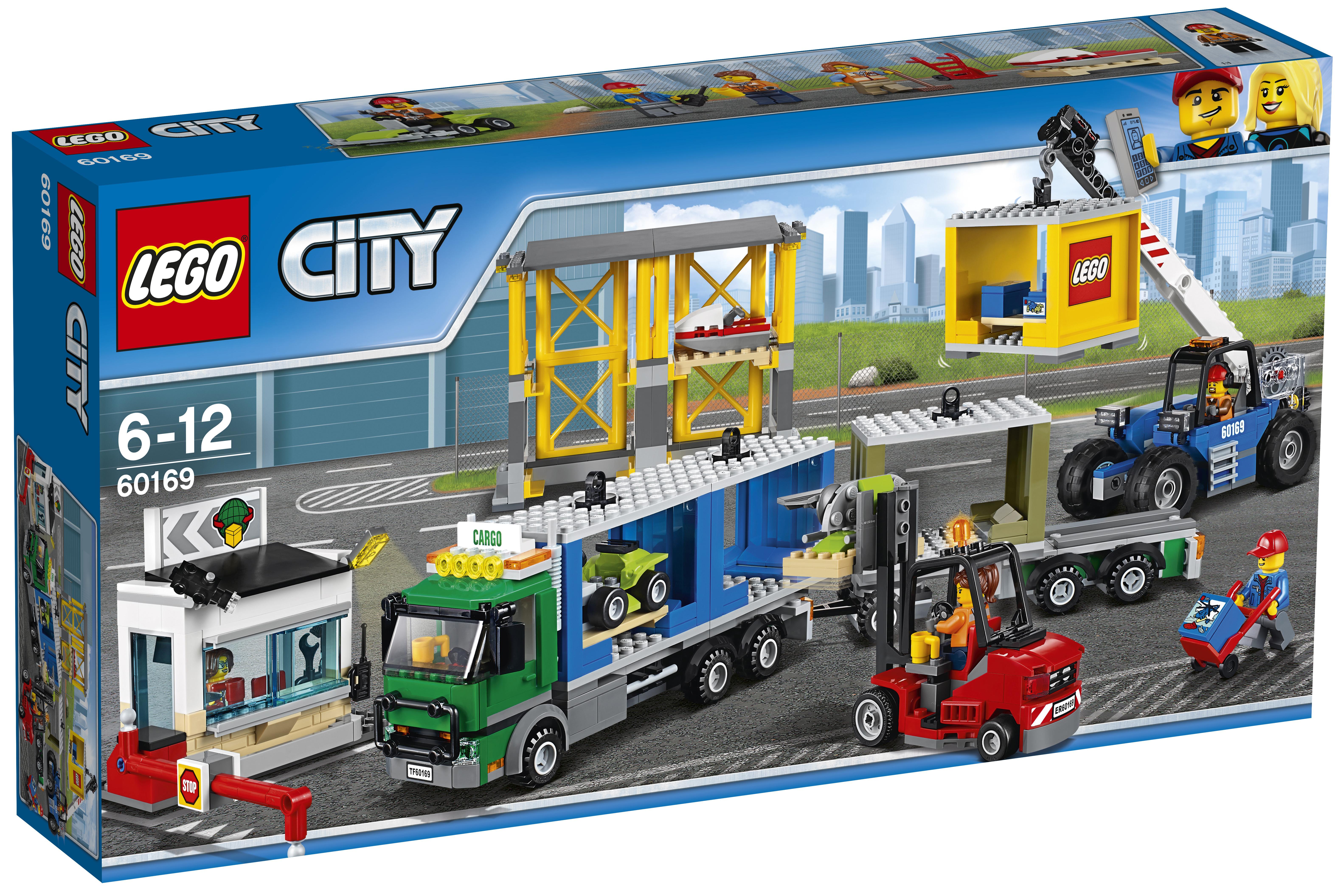 LEGO LEGO Конструктор LEGO City Town 60169 Грузовой терминал lego lego city 60123 грузовой вертолёт исследователей вулканов