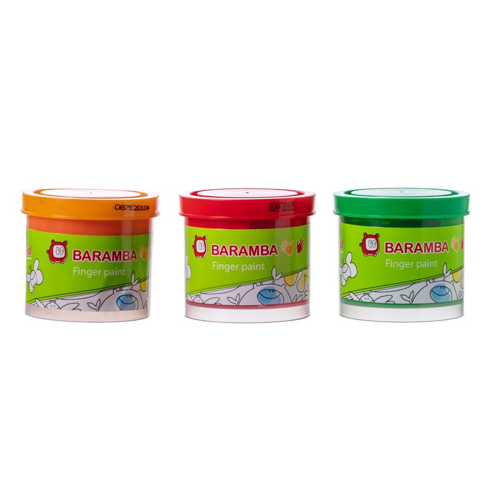 Канцелярия Baramba Набор пальчиковых красок Baramba неоновые 3 цв. 40 мл