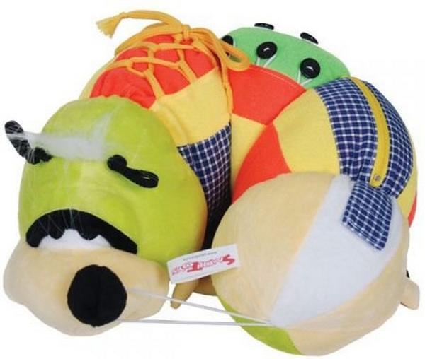 Мягкие игрушки СмолТойс Гусеница Ползунок смолтойс мягкая игрушка миньон кевин 60 см