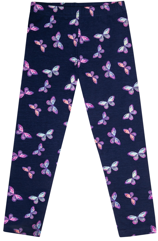 Брюки модель лосины для девочки Barkito Весенние бабочки, темно-синие толстовки barkito весенние бабочки